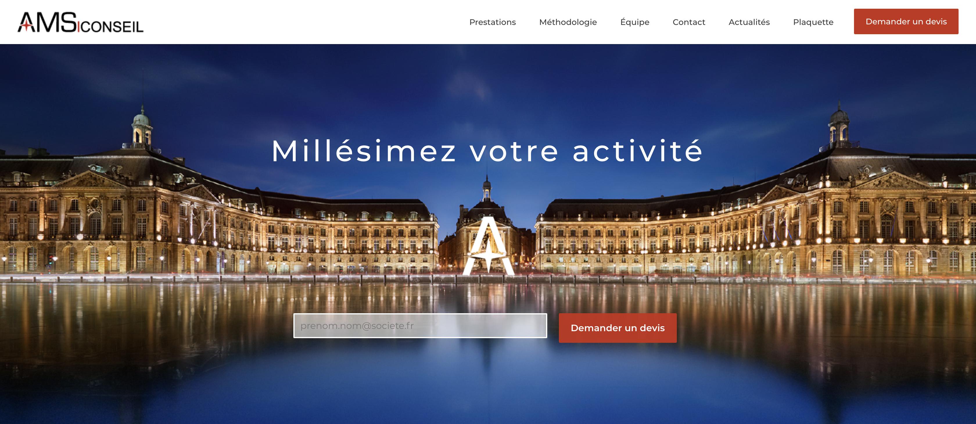Refonte complète du site internet d'AMS Conseil